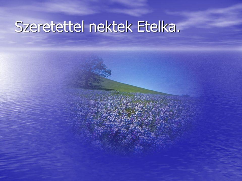 Szeretettel nektek Etelka.