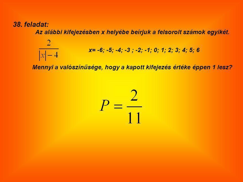 x= -6; -5; -4; -3 ; -2; -1; 0; 1; 2; 3; 4; 5; 6