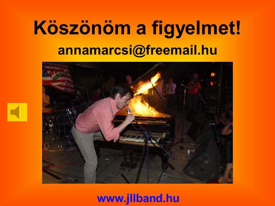 Köszönöm a figyelmet! annamarcsi@freemail.hu www.jllband.hu