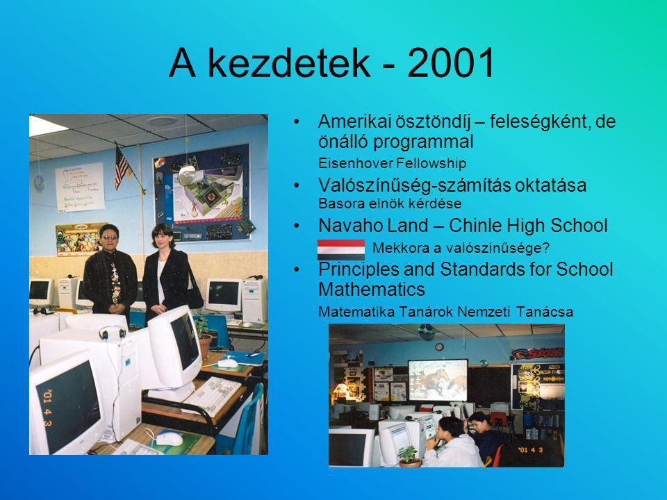 A kezdetek - 2001 Amerikai ösztöndíj – feleségként, de önálló programmal. Eisenhover Fellowship.