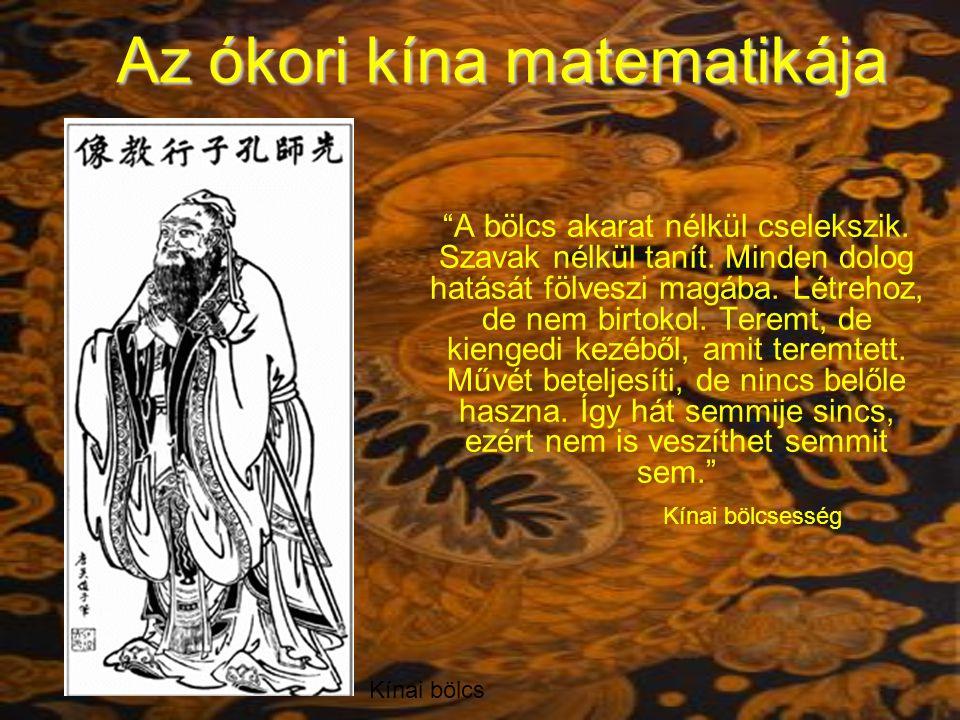 Az ókori kína matematikája