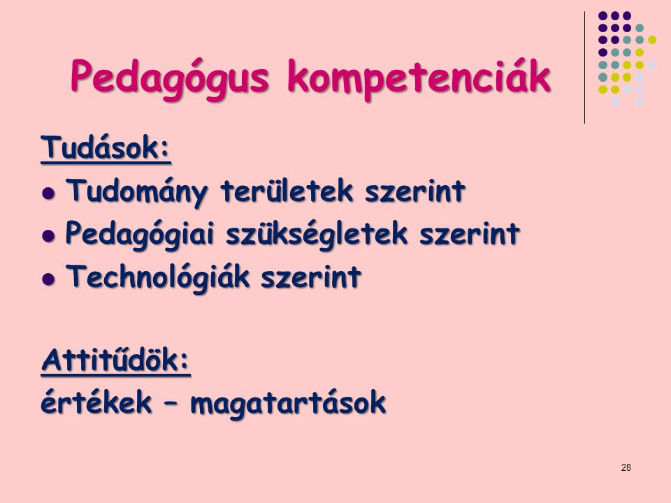 Pedagógus kompetenciák