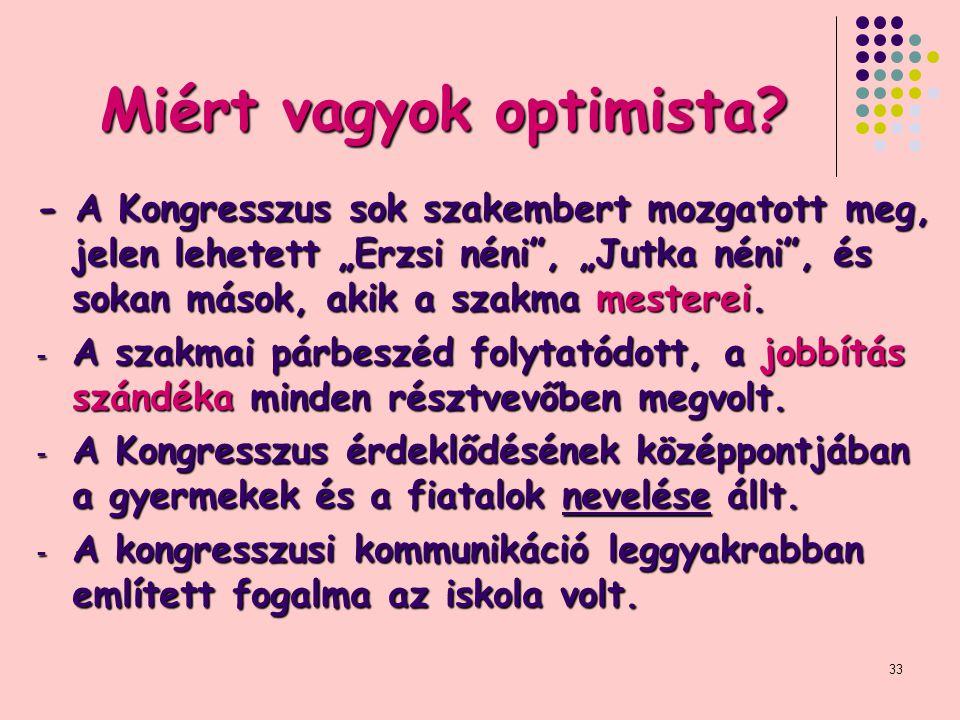 Miért vagyok optimista