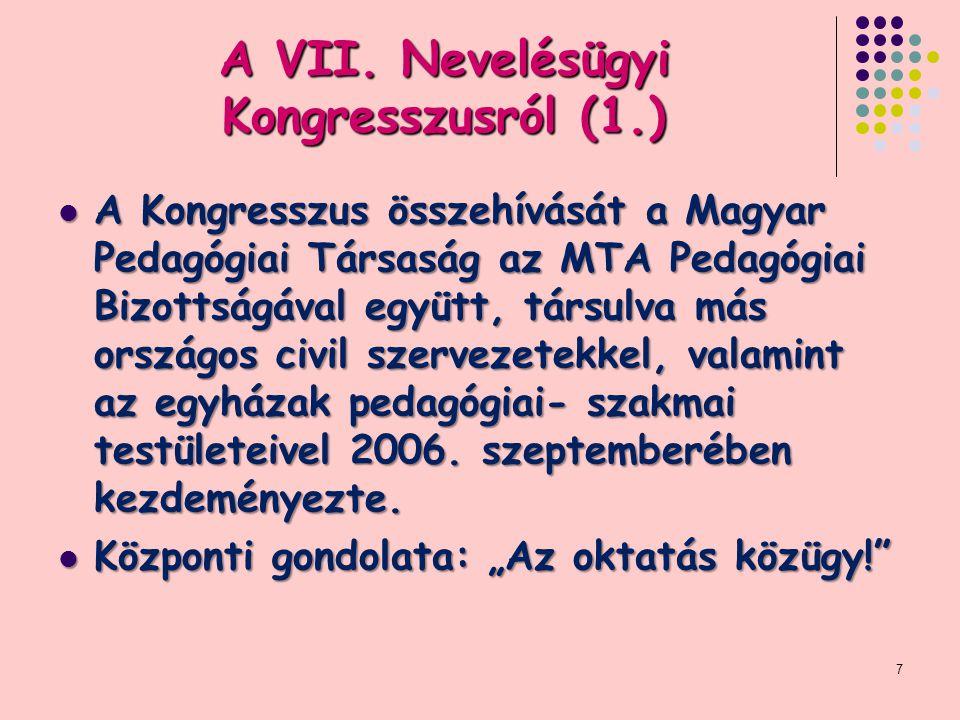 A VII. Nevelésügyi Kongresszusról (1.)