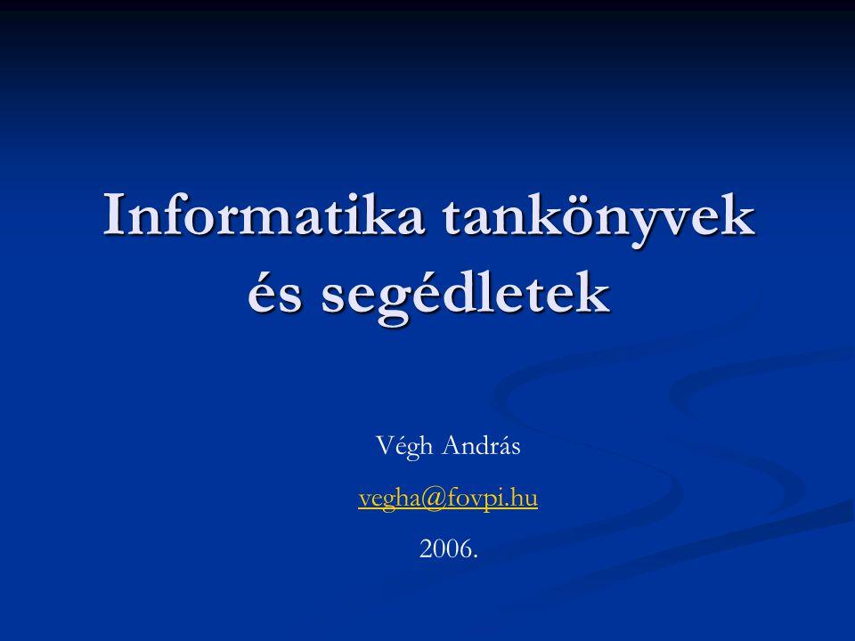Informatika tankönyvek és segédletek