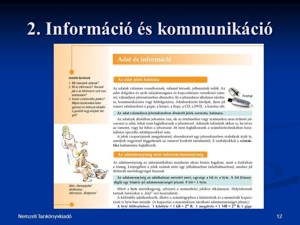 2. Információ és kommunikáció