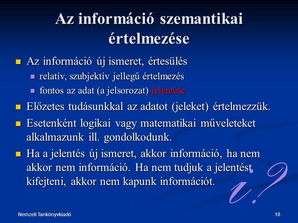 Az információ szemantikai értelmezése