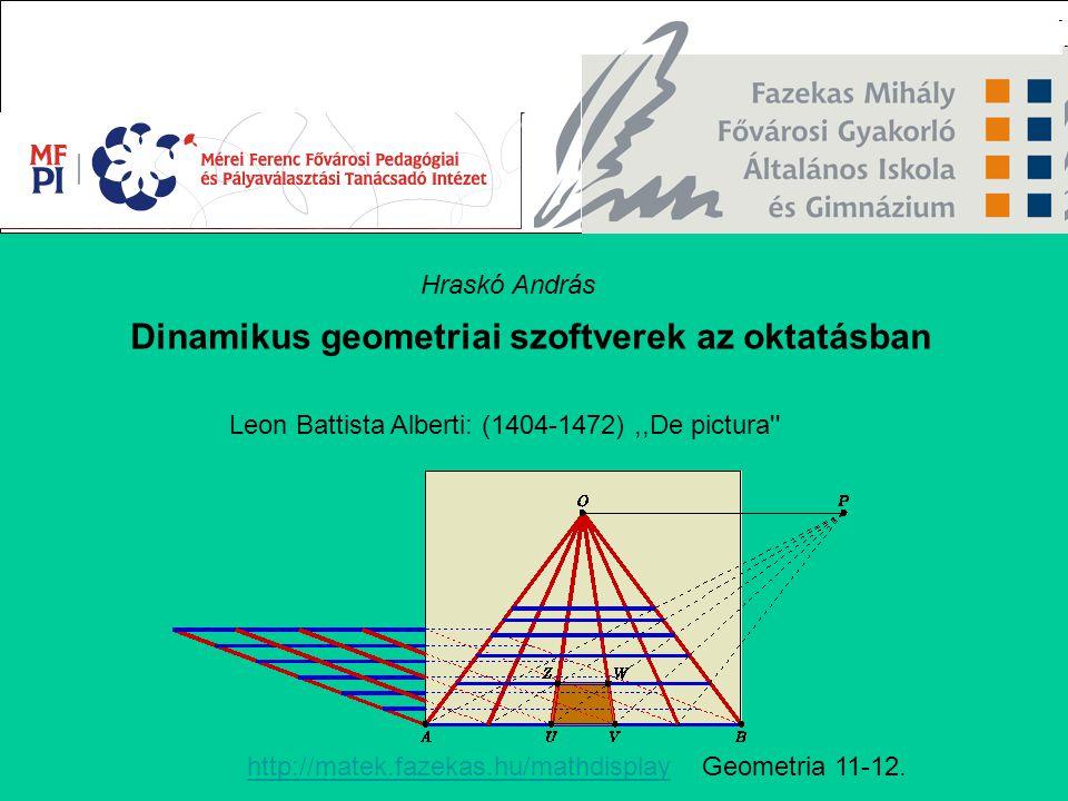 Dinamikus geometriai szoftverek az oktatásban