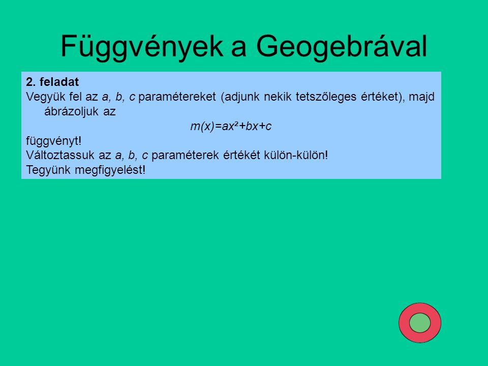 Függvények a Geogebrával
