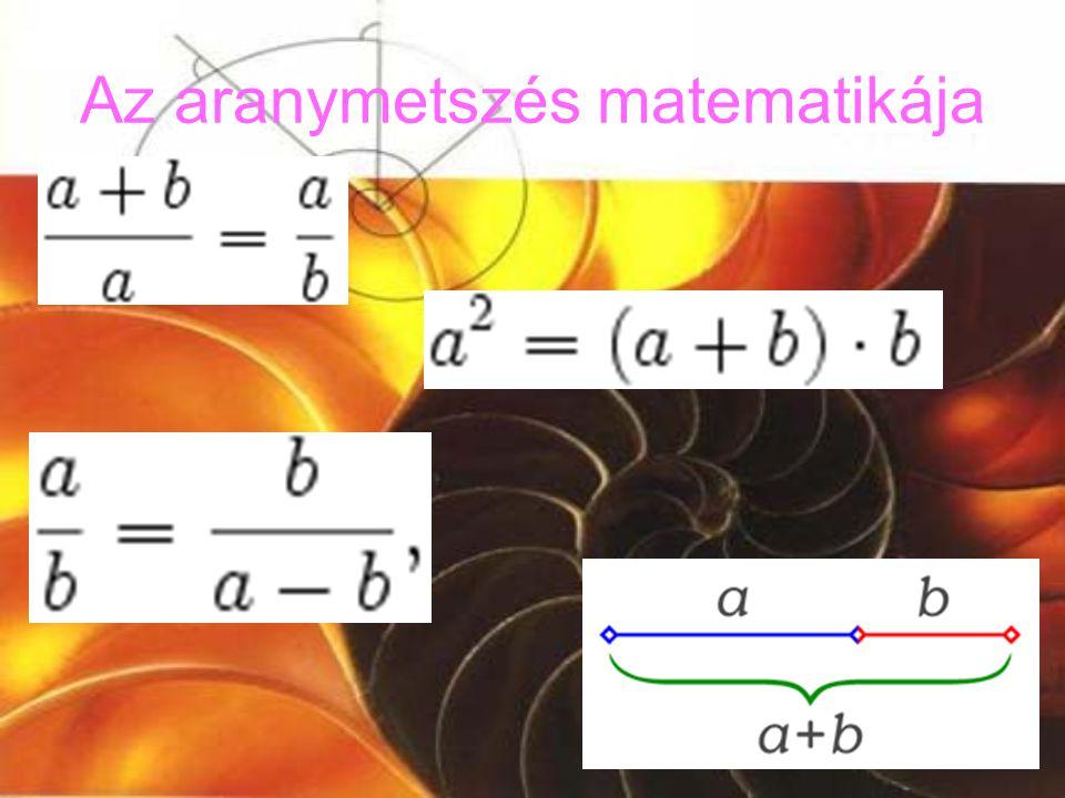 Az aranymetszés matematikája