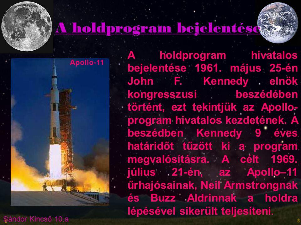 A holdprogram bejelentése