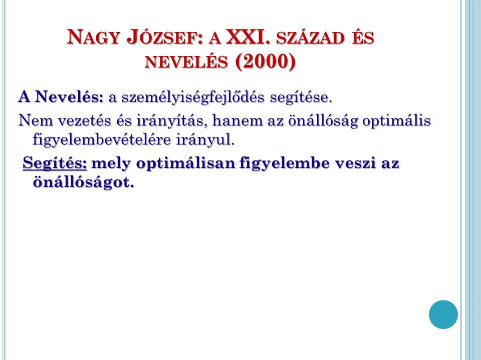 Nagy József: a XXI. század és nevelés (2000)