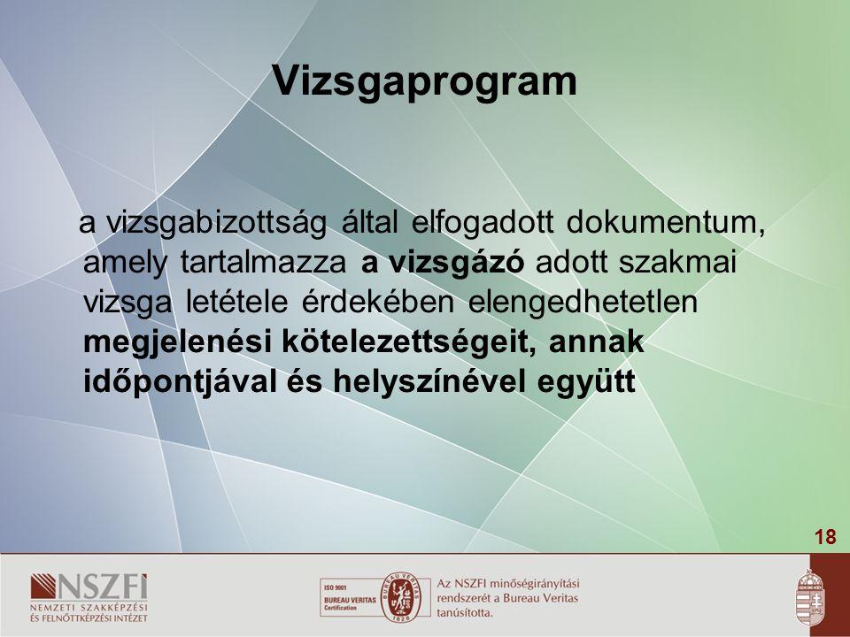 Vizsgaprogram