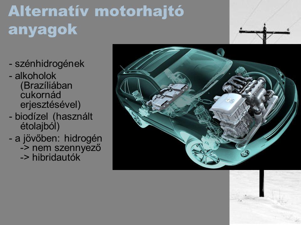 Alternatív motorhajtó anyagok
