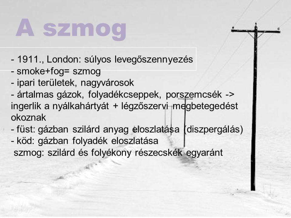 A szmog 1911., London: súlyos levegőszennyezés - smoke+fog= szmog
