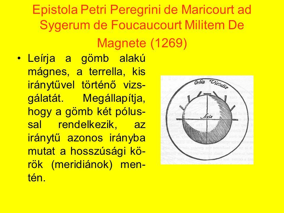 Epistola Petri Peregrini de Maricourt ad Sygerum de Foucaucourt Militem De Magnete (1269)