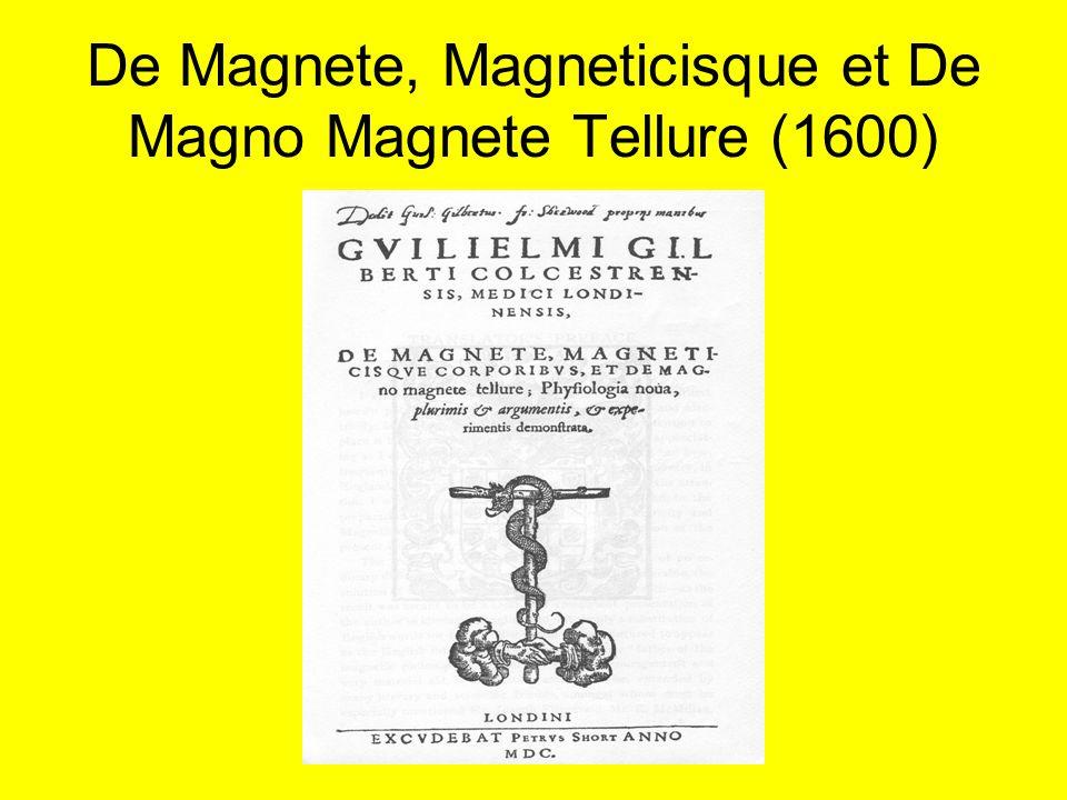 De Magnete, Magneticisque et De Magno Magnete Tellure (1600)