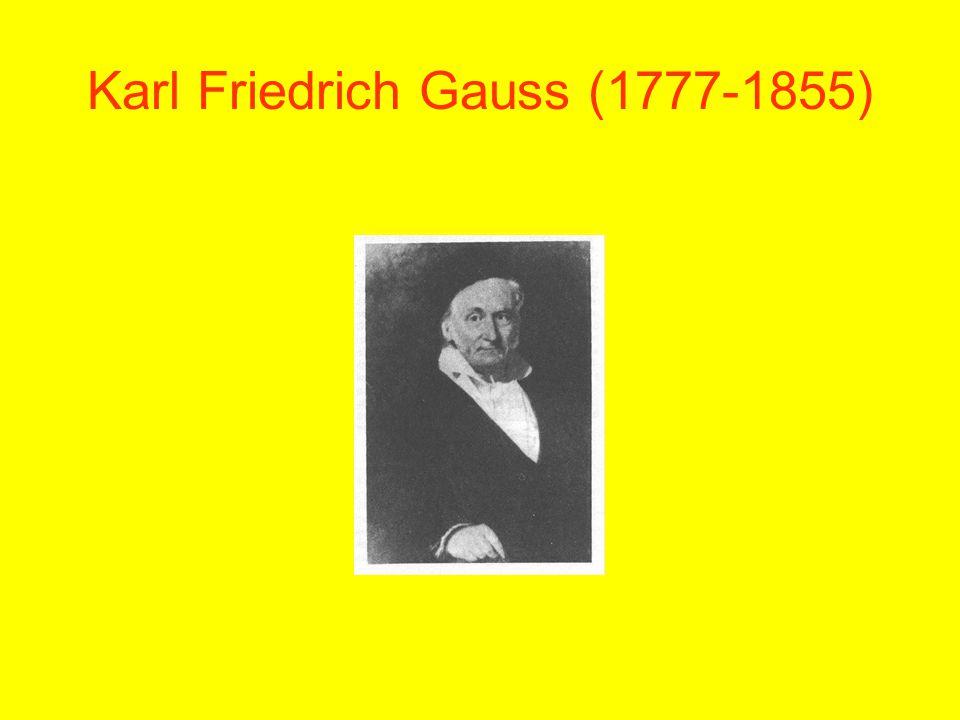 Karl Friedrich Gauss (1777-1855)