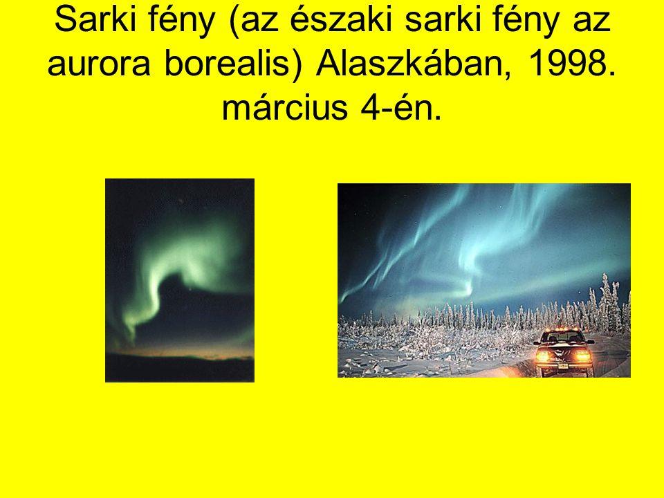 Sarki fény (az északi sarki fény az aurora borealis) Alaszkában, 1998