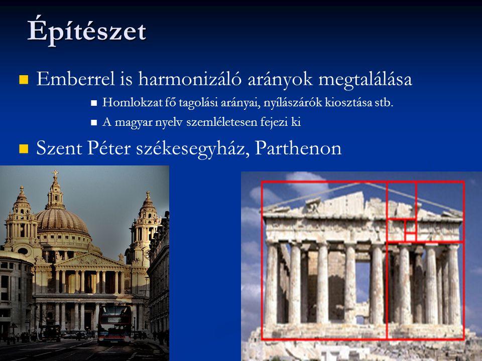 Építészet Emberrel is harmonizáló arányok megtalálása