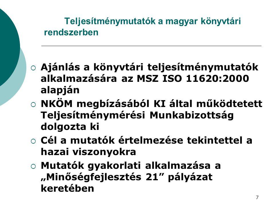 Teljesítménymutatók a magyar könyvtári rendszerben