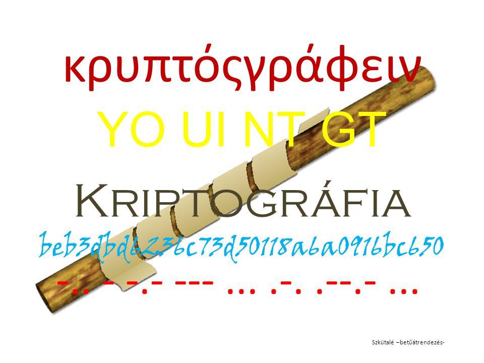YO UI NT GT Kriptográfia beb3dbd6236c73d50118a6a0916bc650
