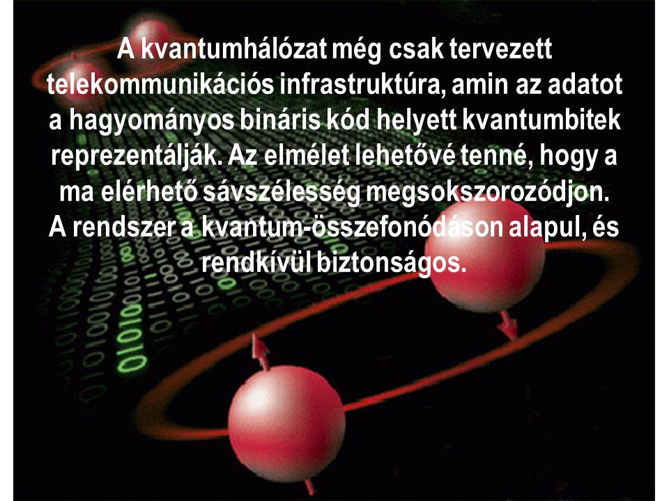 A kvantumhálózat még csak tervezett telekommunikációs infrastruktúra, amin az adatot a hagyományos bináris kód helyett kvantumbitek reprezentálják.