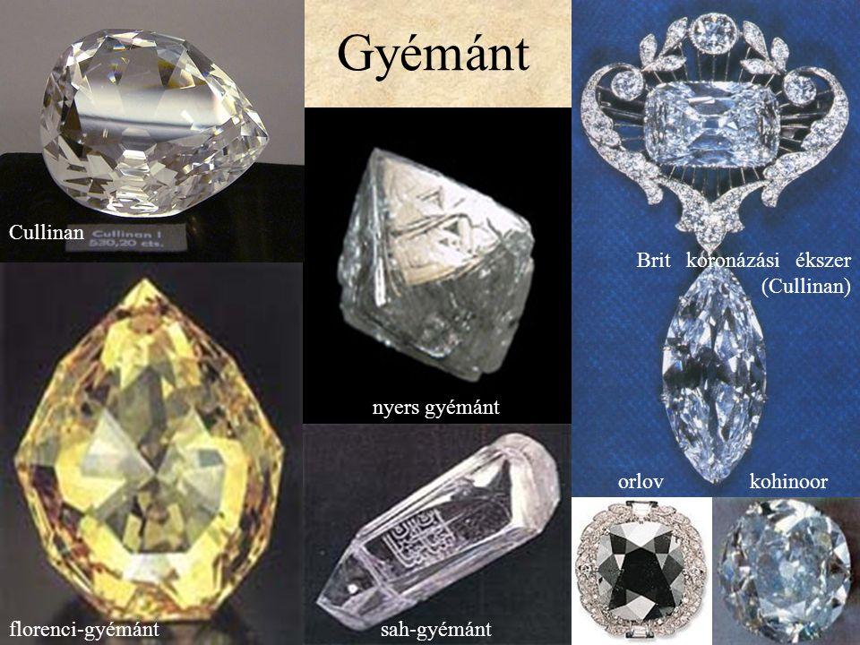 Gyémánt Cullinan Brit koronázási ékszer (Cullinan) nyers gyémánt orlov
