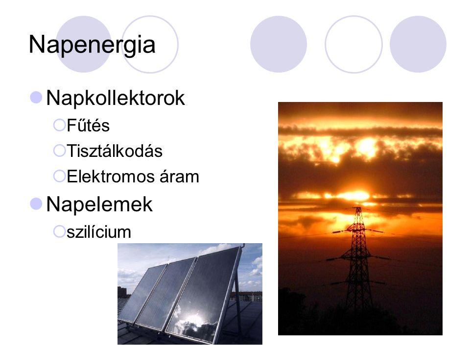 Napenergia Napkollektorok Napelemek Fűtés Tisztálkodás Elektromos áram