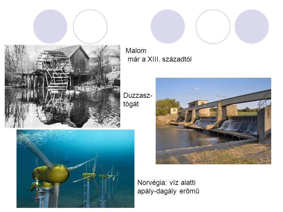 Malom már a XIII. századtól Duzzasz-tógát Norvégia: víz alatti apály-dagály erőmű