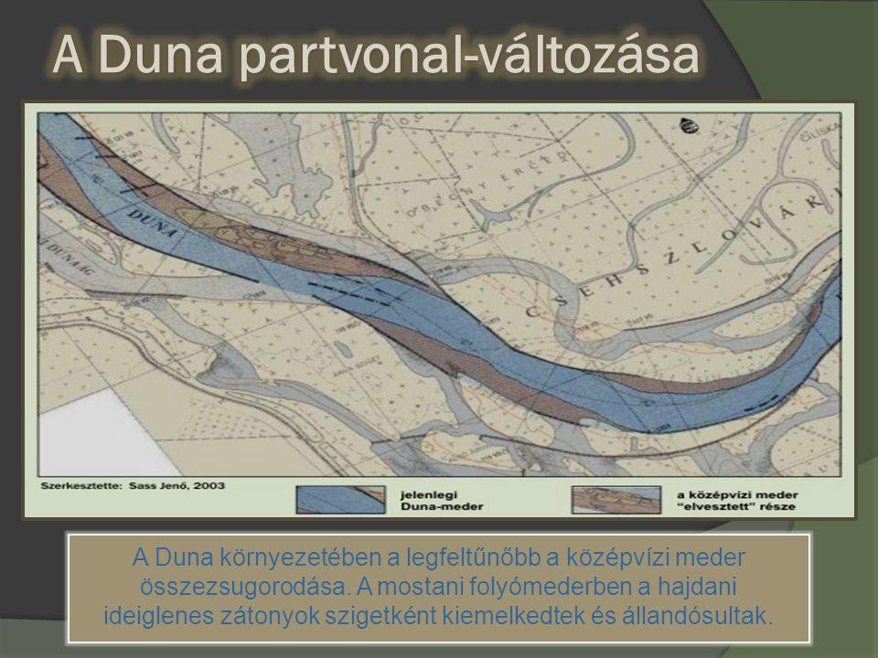 A Duna partvonal-változása