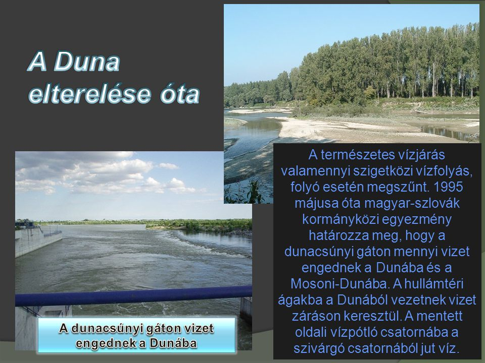 A dunacsúnyi gáton vizet engednek a Dunába