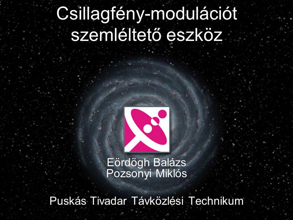 Csillagfény-modulációt szemléltető eszköz