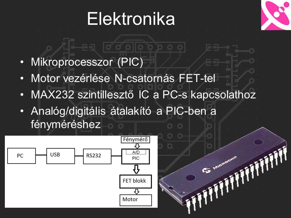 Elektronika Mikroprocesszor (PIC) Motor vezérlése N-csatornás FET-tel
