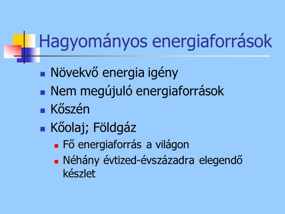 Hagyományos energiaforrások