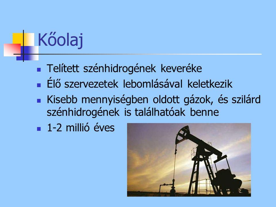 Kőolaj Telített szénhidrogének keveréke