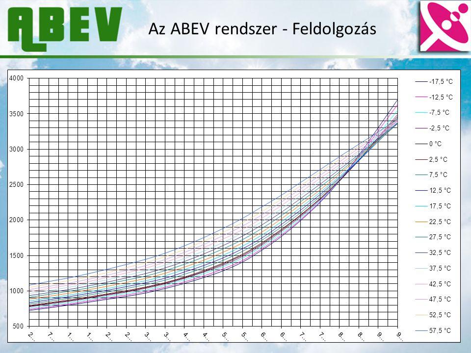 Az ABEV rendszer - Feldolgozás