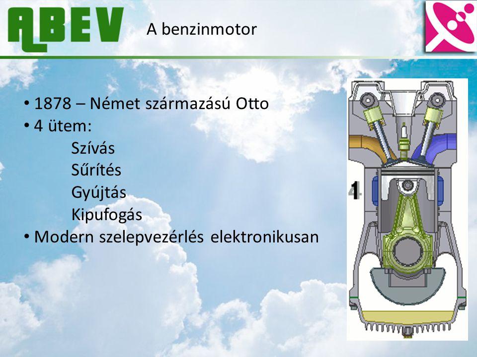 A benzinmotor 1878 – Német származású Otto. 4 ütem: Szívás.