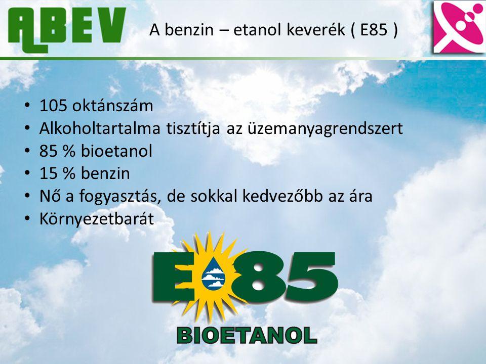 A benzin – etanol keverék ( E85 )