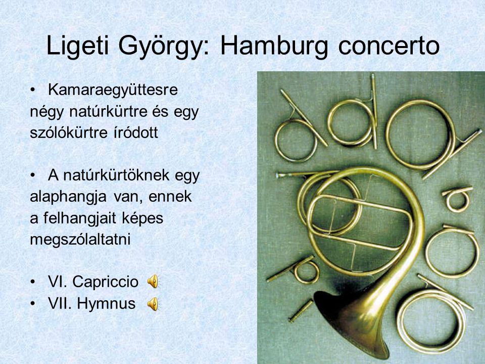 Ligeti György: Hamburg concerto