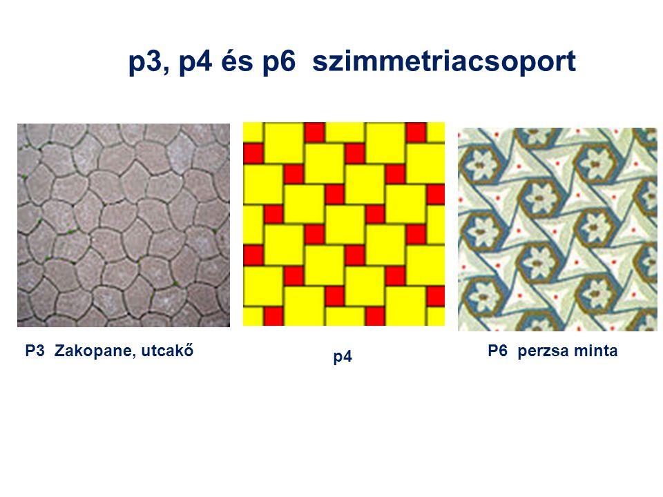 p3, p4 és p6 szimmetriacsoport