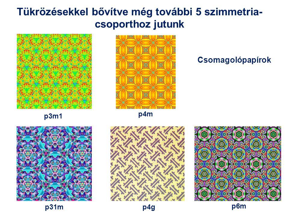Tükrözésekkel bővítve még további 5 szimmetria-csoporthoz jutunk