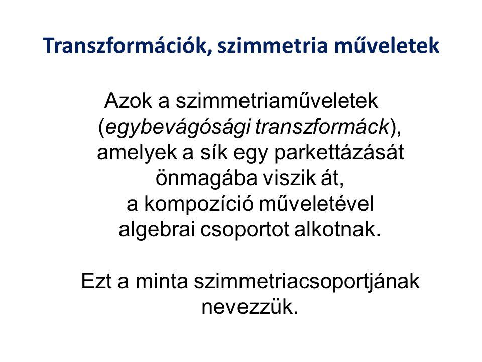 Transzformációk, szimmetria műveletek
