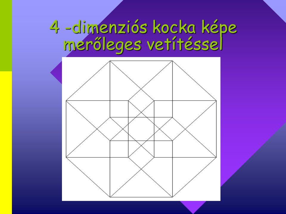 4 -dimenziós kocka képe merőleges vetítéssel