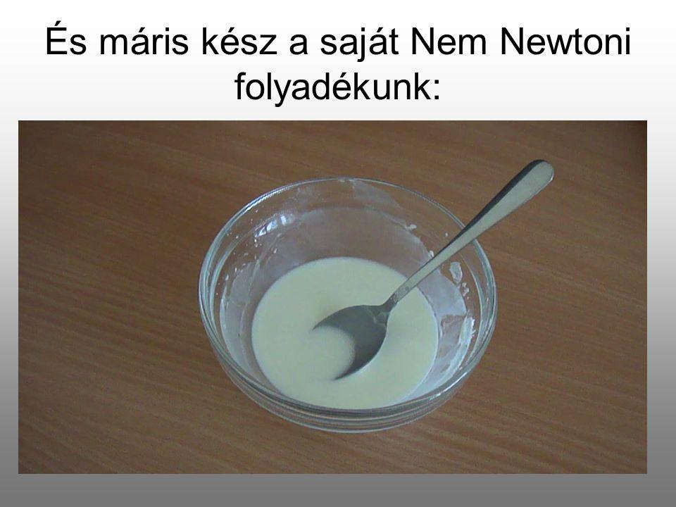 És máris kész a saját Nem Newtoni folyadékunk: