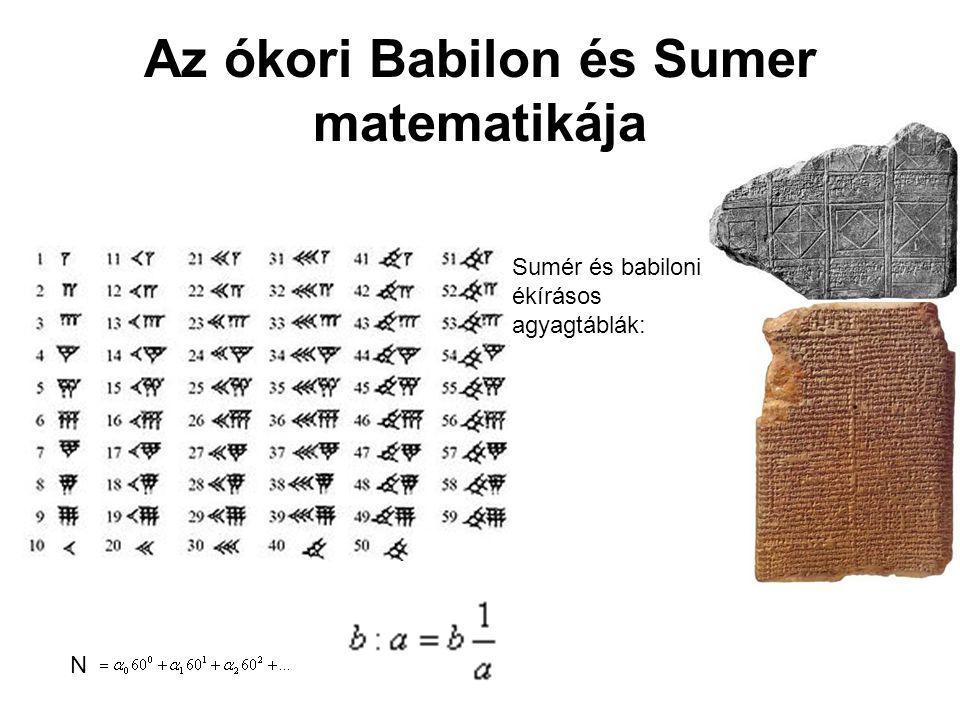 Az ókori Babilon és Sumer matematikája