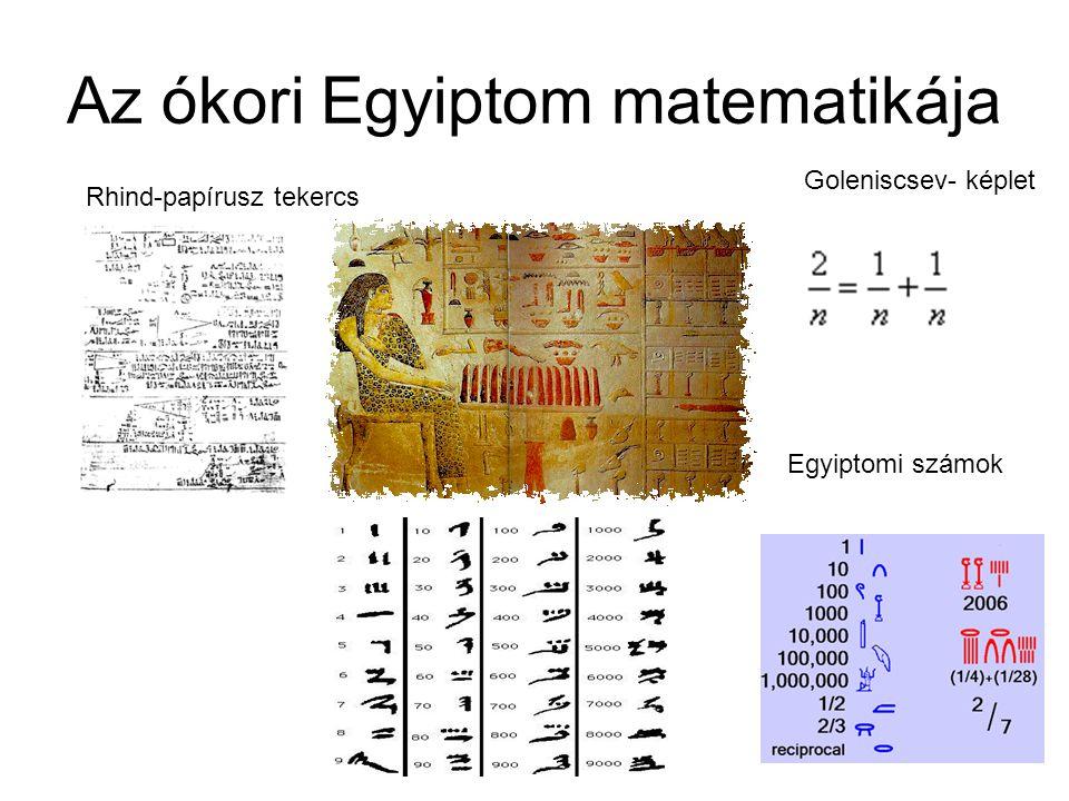 Az ókori Egyiptom matematikája