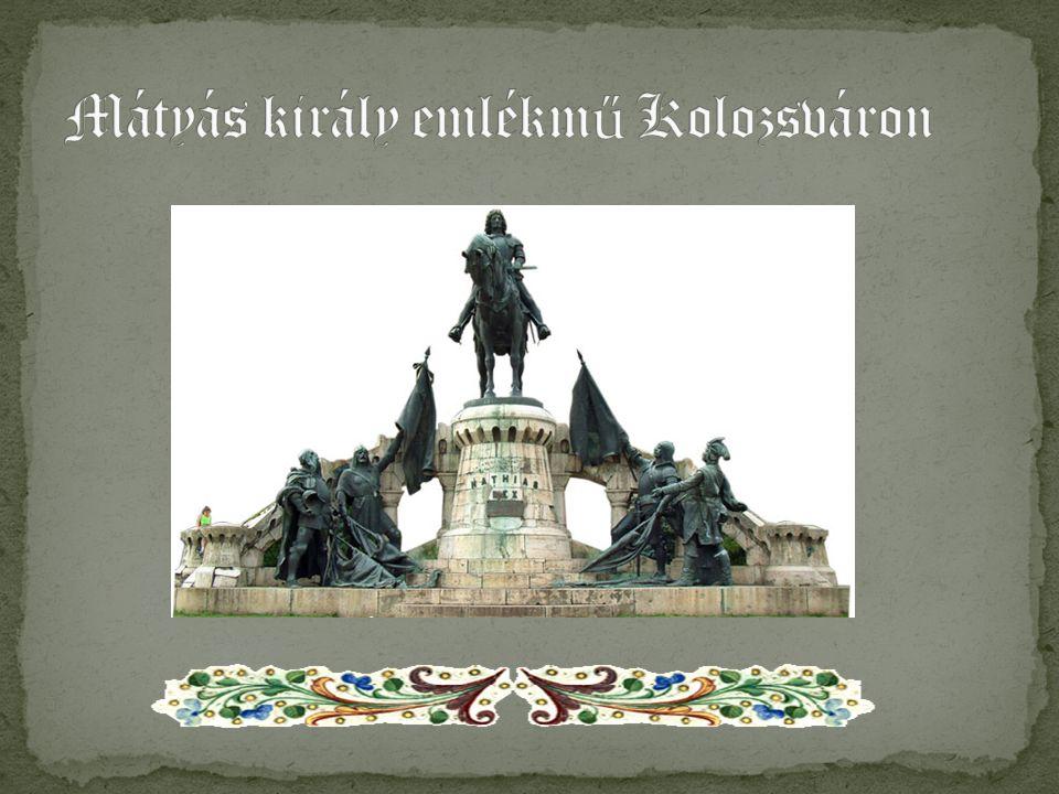 Mátyás király emlékmű Kolozsváron