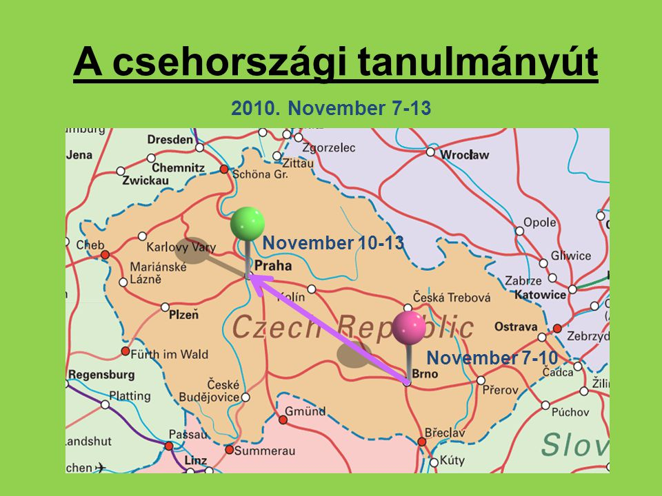 A csehországi tanulmányút