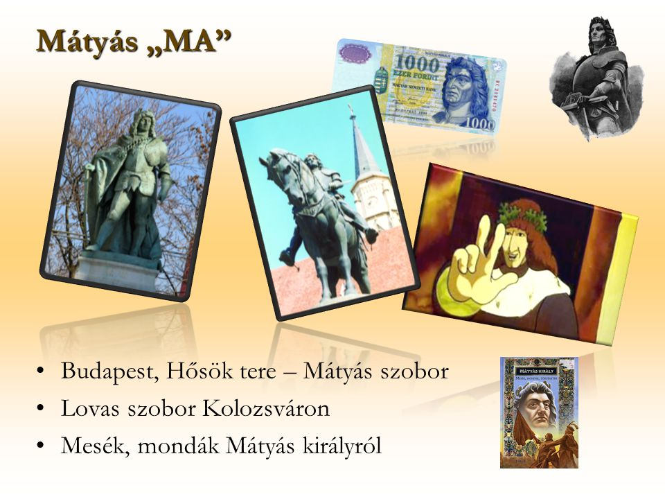 """Mátyás """"MA Budapest, Hősök tere – Mátyás szobor"""